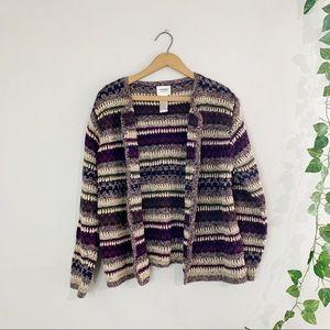 VTG 90's Monterey by Koret Crochet Cardi Sweater